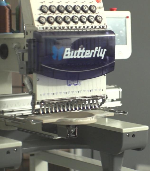 15-Needle Single Head Commercial Embroidery Machine
