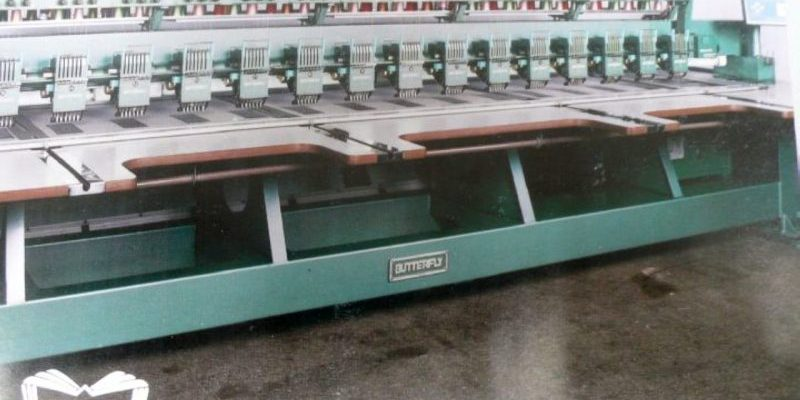Butterfly Embroidery Equipment Multihead Circa 1990