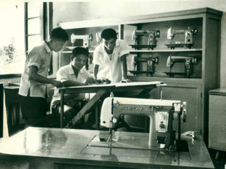 Butterfly Engineering Room – Circa 1975 – Since '1919' – http://www.butterflyemb.com/our-history/