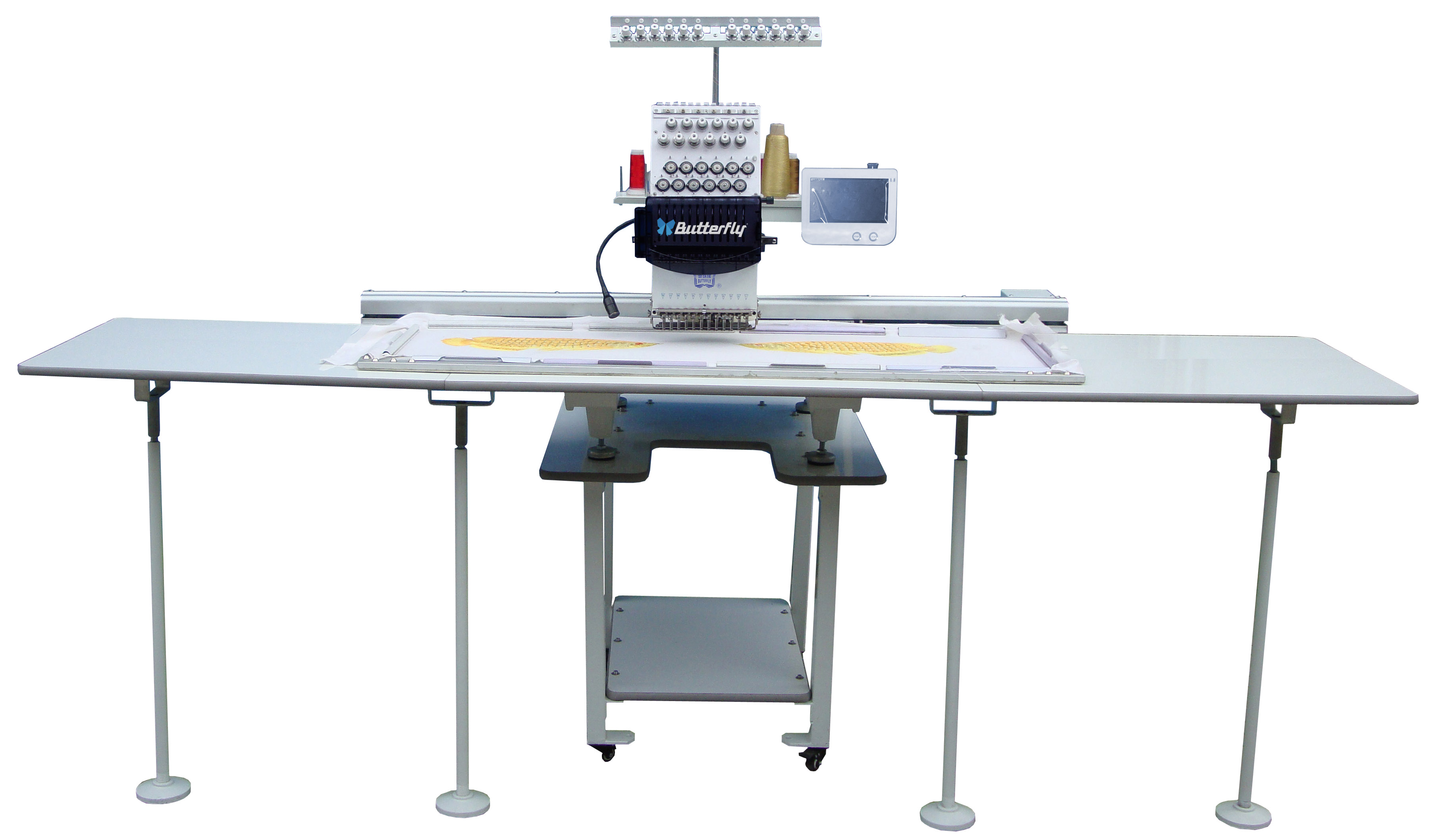 Large sewing area single head embroidery machine 1300x500