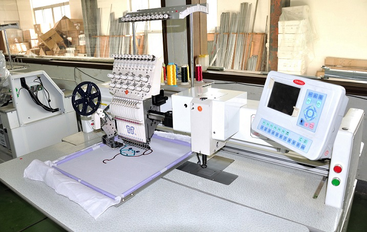 Chenille and Sequins Single Head Commercial Embroidery Machine