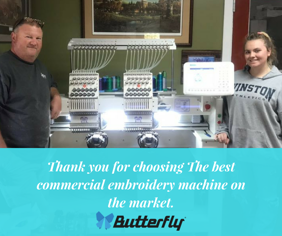 Thank you for choosing The best commercial embroidery machine on the market!