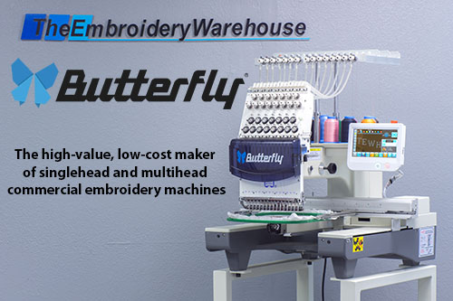 Butterfly Embroidery Equipment - the high-value, low-cost maker of single-head and multi-head commercial embroidery machines.