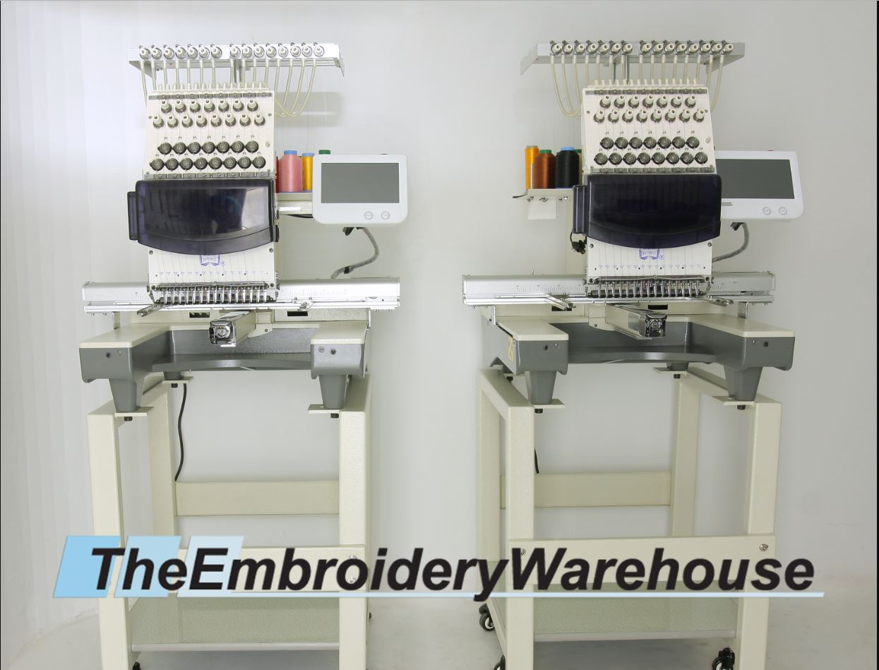 ID#0873 - ButterFly Dual-1502B/T Commercial Embroidery Machine.  Year 2017 Heads: 2 Needles: 15 - www.TheEmbroideryWarehouse.com