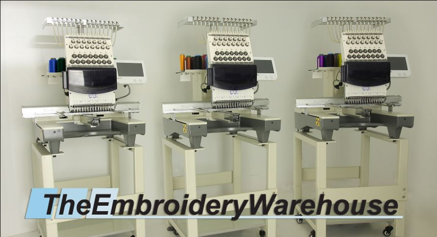 ID#0875 - ButterFly Tri-1503B/T Commercial Embroidery Machine.  Year 2017 Heads: 3 Needles: 15 - www.TheEmbroideryWarehouse.com