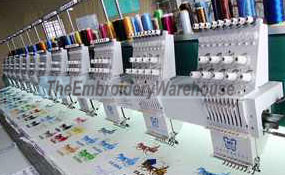 ID# 0881 2015 ButterFly B-912B/T  Multi-head commercial embroidery machine http://www.TheEmbroideryWarehouse.com