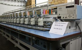 ID#0958 - Barudan BESR-UG-15T Commercial Embroidery Machine.  Year 1990 Heads: 15 Needles: 7 - www.TheEmbroideryWarehouse.com