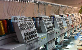 ID# 1003 2015 (New) ButterFly B-1208B/T  Multi-head commercial embroidery machine http://www.TheEmbroideryWarehouse.com