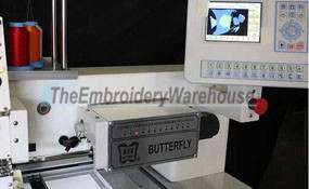 ID#1024 - ButterFly B-1206B/T Commercial Embroidery Machine.  Year 2017 (New) Heads: 6 Needles: 12 - www.TheEmbroideryWarehouse.com