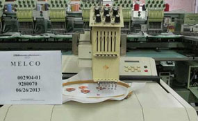 ID#1045 - Melco EMC 6MTL Commercial Embroidery Machine.  Year 1995 Heads: 1 Needles: 6 - www.TheEmbroideryWarehouse.com