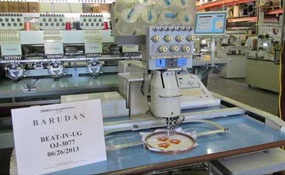 ID#1057 - Barudan BEAT IV-UG Commercial Embroidery Machine.  Year 1995 Heads: 1 Needles: 7 - www.TheEmbroideryWarehouse.com