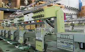 ID#1074 - Tajima TME-SC606 Commercial Embroidery Machine.  Year 1990 Heads: 6 Needles: 6 - www.TheEmbroideryWarehouse.com