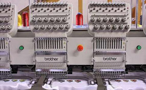 ID#1076 - Brother BES-1260 Commercial Embroidery Machine.  Year 1999 Heads: 6 Needles: 12 - www.TheEmbroideryWarehouse.com