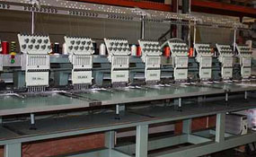 ID#1081 - Tajima TME-DC912 Commercial Embroidery Machine.  Year 1996 Heads: 12 Needles: 9 - www.TheEmbroideryWarehouse.com