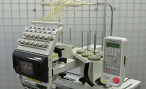 ID#1105 - Toyota 860 Commercial Embroidery Machine.  Year 1998 Heads: 1 Needles: 12 - www.TheEmbroideryWarehouse.com