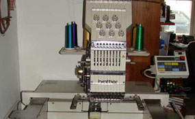 ID#1111 - Brother 416 Commercial Embroidery Machine.  Year 1996 Heads: 1 Needles: 9 - www.TheEmbroideryWarehouse.com