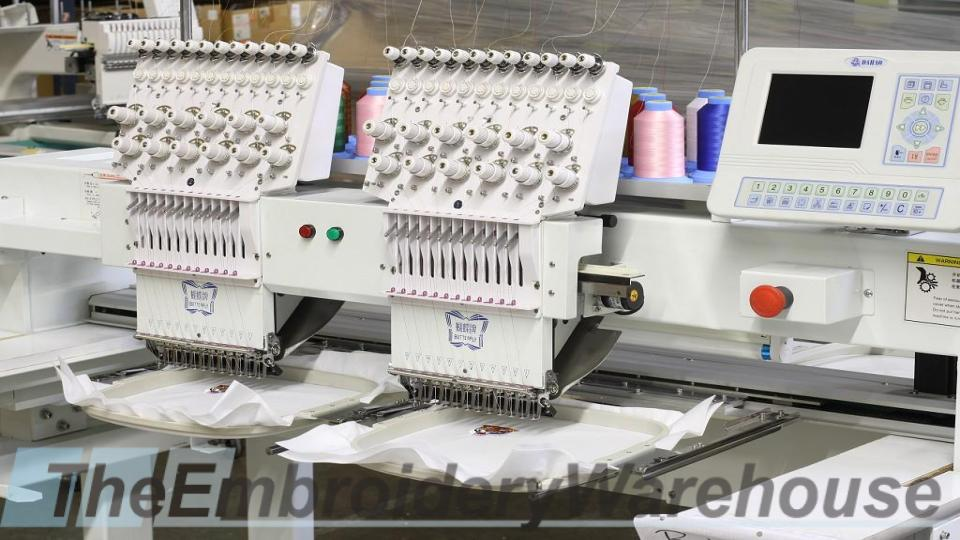 ID#1119 - ButterFly B-1202B/T Commercial Embroidery Machine.  Year 2017 (New) Heads: 2 Needles: 12 - www.TheEmbroideryWarehouse.com