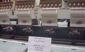 ID#1120 - Tajima TME-DC1212 Commercial Embroidery Machine.  Year 1997 Heads: 12 Needles: 12 - www.TheEmbroideryWarehouse.com