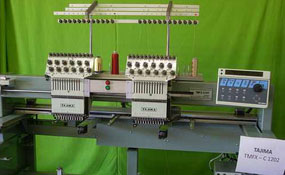 ID#1122 - Tajima TMFX-C1202 Commercial Embroidery Machine.  Year 1997 Heads: 2 Needles: 12 - www.TheEmbroideryWarehouse.com