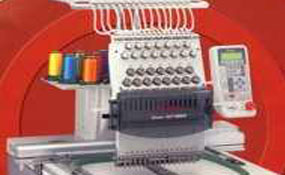 ID#1125 - Toyota 9000 Commercial Embroidery Machine.  Year 2002 Heads: 1 Needles: 15 - www.TheEmbroideryWarehouse.com