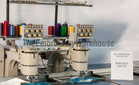 ID# 1127 1994 Barudan PROFIT 902T YS  Multi-head commercial embroidery machine http://www.TheEmbroideryWarehouse.com