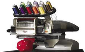ID#1128 - Melco Amaya Commercial Embroidery Machine.  Year 2004 Heads: 1 Needles: 15 - www.TheEmbroideryWarehouse.com