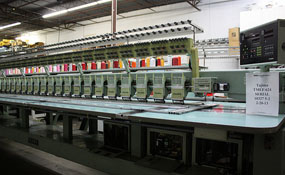 ID#1131 - Tajima TMEF-624 Commercial Embroidery Machine.  Year 1992 Heads: 24 Needles: 6 - www.TheEmbroideryWarehouse.com