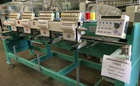 ID#1132 - Tajima TMFX-C1204 Commercial Embroidery Machine.  Year 1997 Heads: 4 Needles: 12 - www.TheEmbroideryWarehouse.com