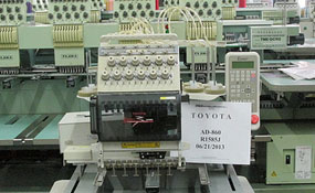 ID#1135 - Toyota 860 Commercial Embroidery Machine.  Year 1997 Heads: 1 Needles: 12 - www.TheEmbroideryWarehouse.com