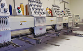 ID#1136 - SWF 1204 Commercial Embroidery Machine.  Year 1999 Heads: 4 Needles: 12 - www.TheEmbroideryWarehouse.com