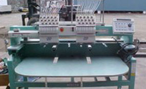 ID#1138 - Tajima TMEX-C1502 Commercial Embroidery Machine.  Year 2004 Heads: 2 Needles: 15 - www.TheEmbroideryWarehouse.com