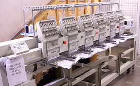 ID#1155 - Brother BES 1260 BC Commercial Embroidery Machine.  Year 1999 Heads: 6 Needles: 12 - www.TheEmbroideryWarehouse.com