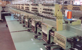 ID#1157 - Tajima TMEF HCG912 Commercial Embroidery Machine.  Year 1992 Heads: 12 Needles: 9 - www.TheEmbroideryWarehouse.com