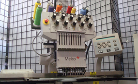 ID#1169 - Melco EMT 10T Commercial Embroidery Machine.  Year 1998 Heads: 1 Needles: 10 - www.TheEmbroideryWarehouse.com