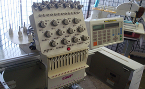 ID#1170 - SWF AT1201 Commercial Embroidery Machine.  Year 2000 Heads: 1 Needles: 12 - www.TheEmbroideryWarehouse.com