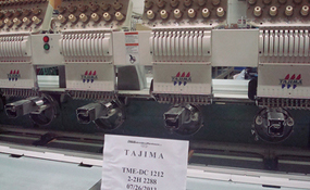 ID#1172 - Tajima TME DC1212 Commercial Embroidery Machine.  Year 2000 Heads: 12 Needles: 12 - www.TheEmbroideryWarehouse.com