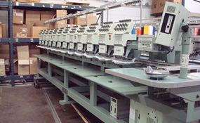 ID#1173 - Tajima TME DC912 Commercial Embroidery Machine.  Year 1996 Heads: 12 Needles: 9 - www.TheEmbroideryWarehouse.com