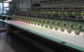 ID#1174 - Tajima TMEG G620 Commercial Embroidery Machine.  Year 1993 Heads: 20 Needles: 6 - www.TheEmbroideryWarehouse.com