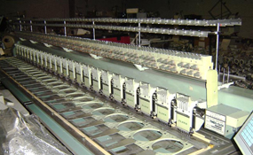ID#1175 - Tajima TMEG G624 Commercial Embroidery Machine.  Year 1993 Heads: 24 Needles: 6 - www.TheEmbroideryWarehouse.com