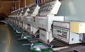 ID#1176 - Tajima TMFD CG912 Commercial Embroidery Machine.  Year 1993 Heads: 12 Needles: 9 - www.TheEmbroideryWarehouse.com
