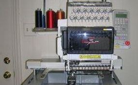 ID# 1179 1997 Toyota 860  Single Head commercial embroidery machine http://www.TheEmbroideryWarehouse.com