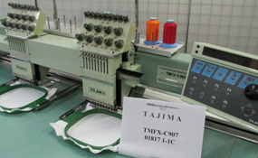 ID#1182 - Tajima TMFX-C902 Commercial Embroidery Machine.  Year 1994 Heads: 2 Needles: 9 - www.TheEmbroideryWarehouse.com