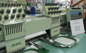 ID#1183 - Tajima TMFX-C902 Commercial Embroidery Machine.  Year 1994 Heads: 2 Needles: 9 - www.TheEmbroideryWarehouse.com