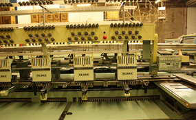 ID#1195 - Tajima TME-HC-912 Commercial Embroidery Machine.  Year 1992 Heads: 12 Needles: 9 - www.TheEmbroideryWarehouse.com