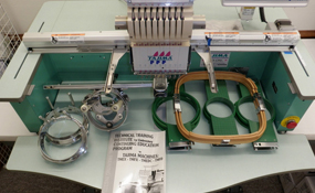 ID#1210 - Tajima TMEX-C901CT Commercial Embroidery Machine.  Year 1996 Heads: 1 Needles: 9 - www.TheEmbroideryWarehouse.com