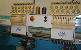 ID#1212 - Tajima TMFX - C1202 Commercial Embroidery Machine.  Year 1997 Heads: 2 Needles: 12 - www.TheEmbroideryWarehouse.com