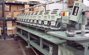 ID#1214 - Tajima TME DC912 Commercial Embroidery Machine.  Year 1997 Heads: 12 Needles: 9 - www.TheEmbroideryWarehouse.com