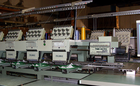 ID#1215 - Tajima TME DC915 Commercial Embroidery Machine.  Year 1996 Heads: 15 Needles: 9 - www.TheEmbroideryWarehouse.com