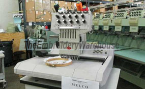 ID#1218 - Melco EMC10T Commercial Embroidery Machine.  Year 1997 Heads: 1 Needles: 10 - www.TheEmbroideryWarehouse.com