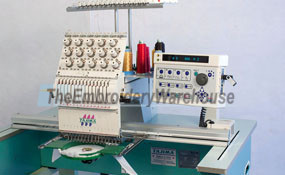 ID# 1226 2001 Tajima TMEX-C1501  Single Head commercial embroidery machine http://www.TheEmbroideryWarehouse.com